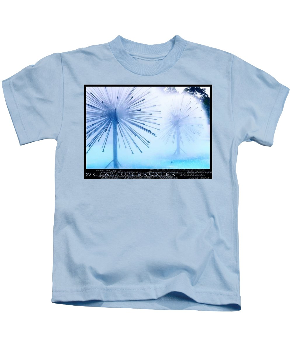 Clay Kids T-Shirt featuring the photograph Southern California Fountains by Clayton Bruster