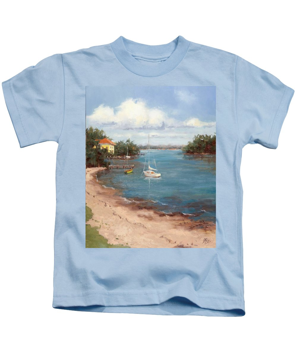 Como Kids T-Shirt featuring the painting Southern Como Cottage by Hope Reis