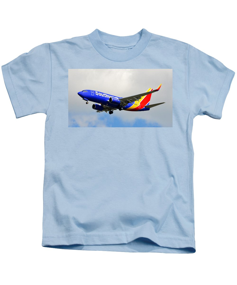 Jet Kids T-Shirt featuring the photograph Southwest One by David Lee Thompson
