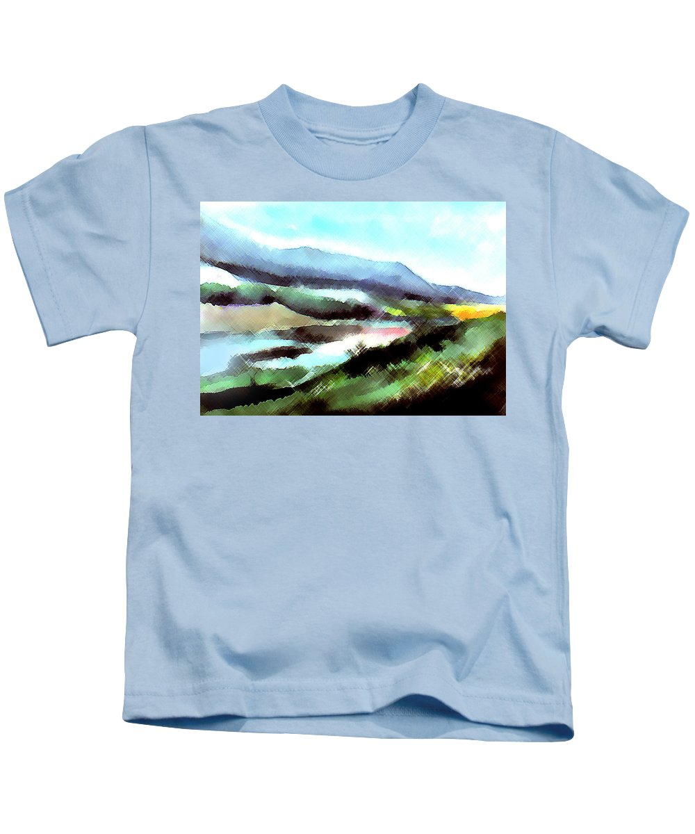 Digital Art Kids T-Shirt featuring the painting Sparkling by Anil Nene