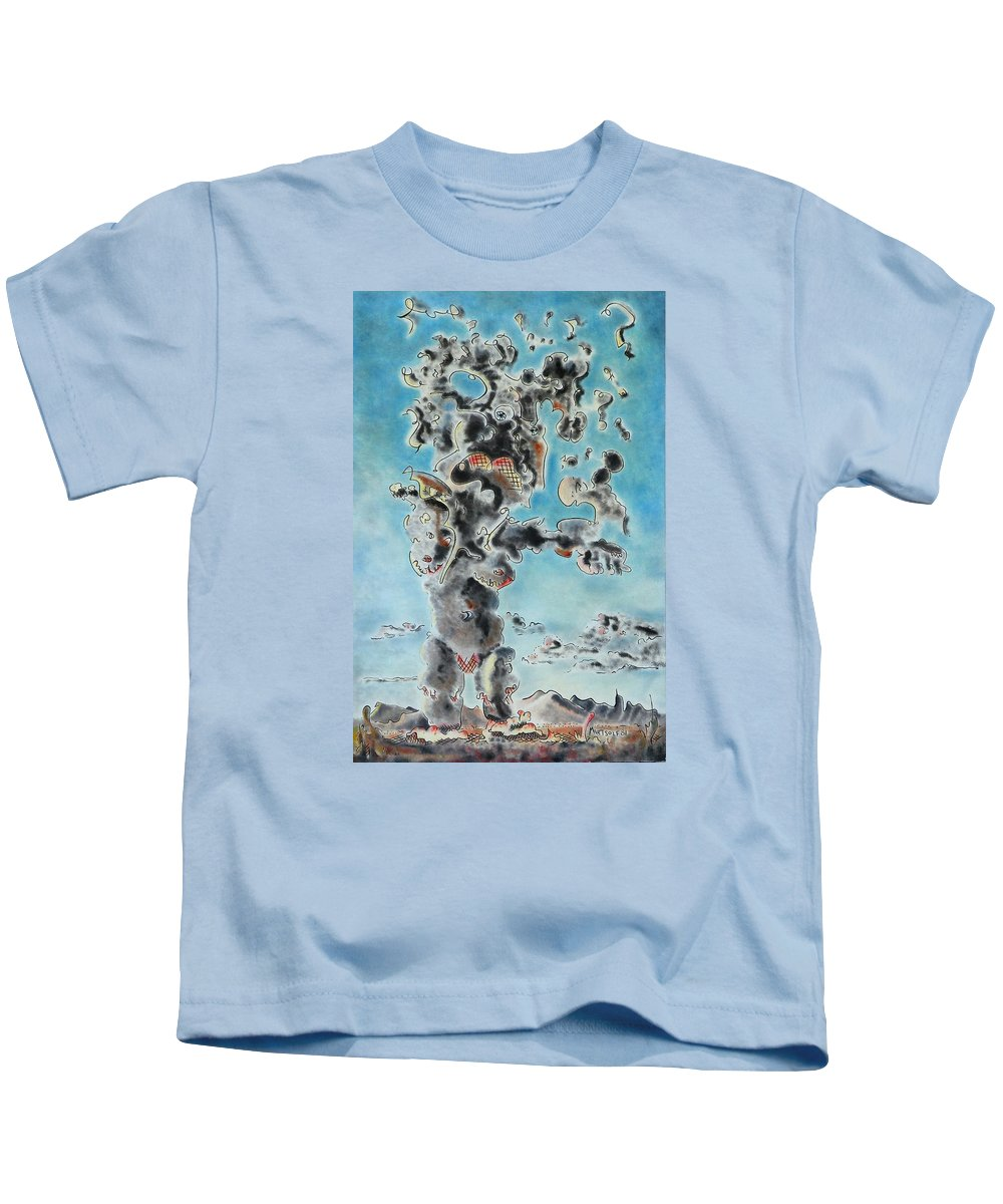 Surreal Kids T-Shirt featuring the painting Spectre by Dave Martsolf