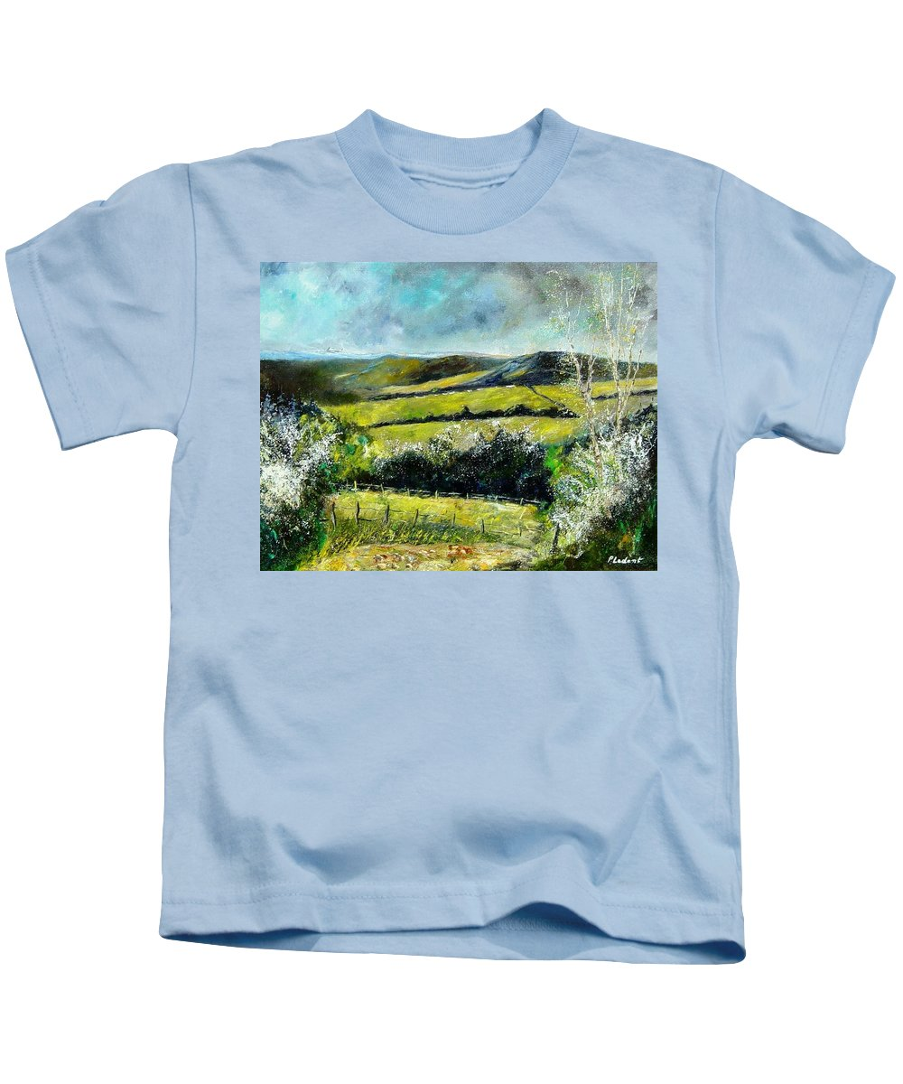 Landscape Kids T-Shirt featuring the print Spring 79 by Pol Ledent