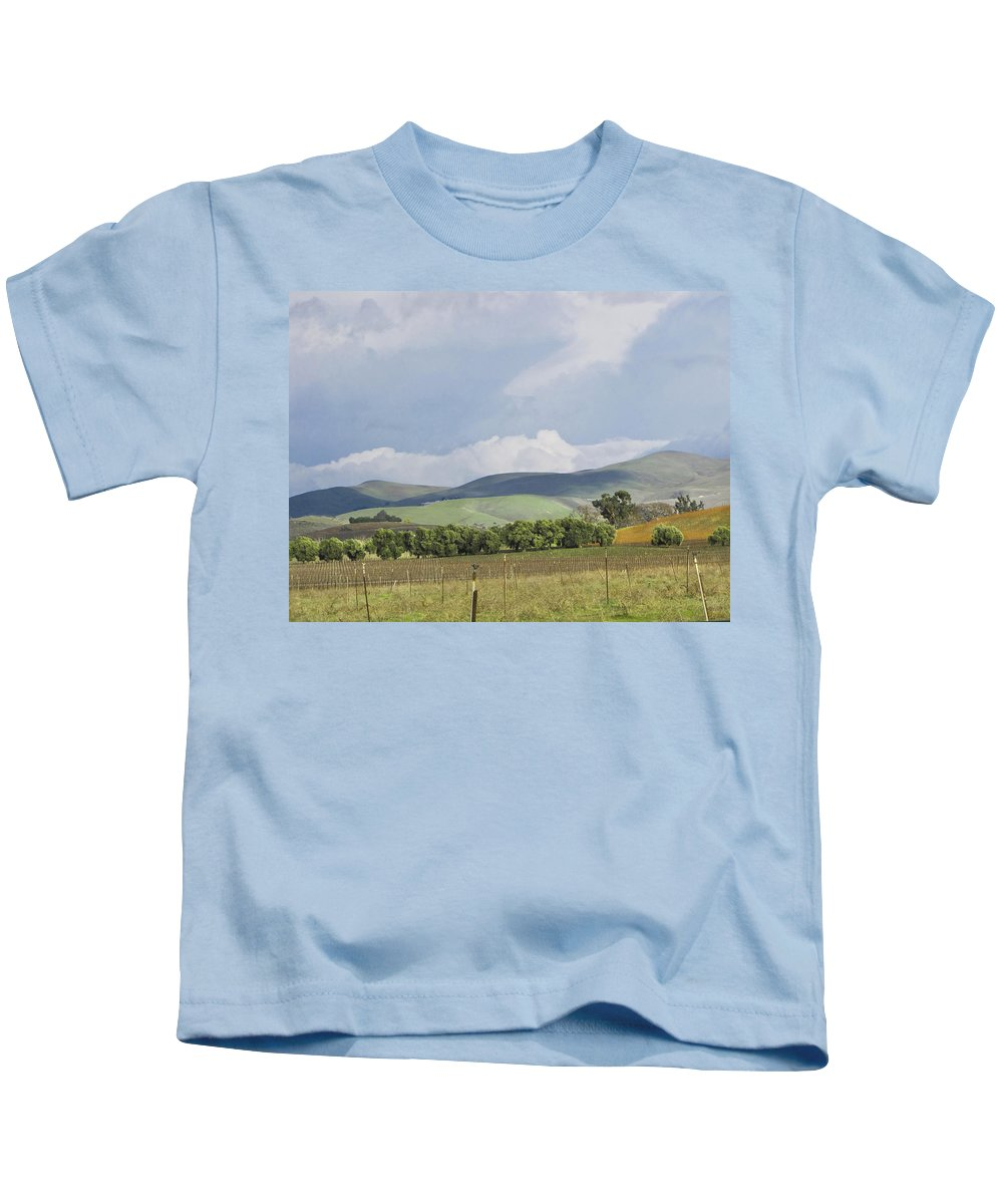Landscape Kids T-Shirt featuring the photograph Spring In Livermore by Karen W Meyer