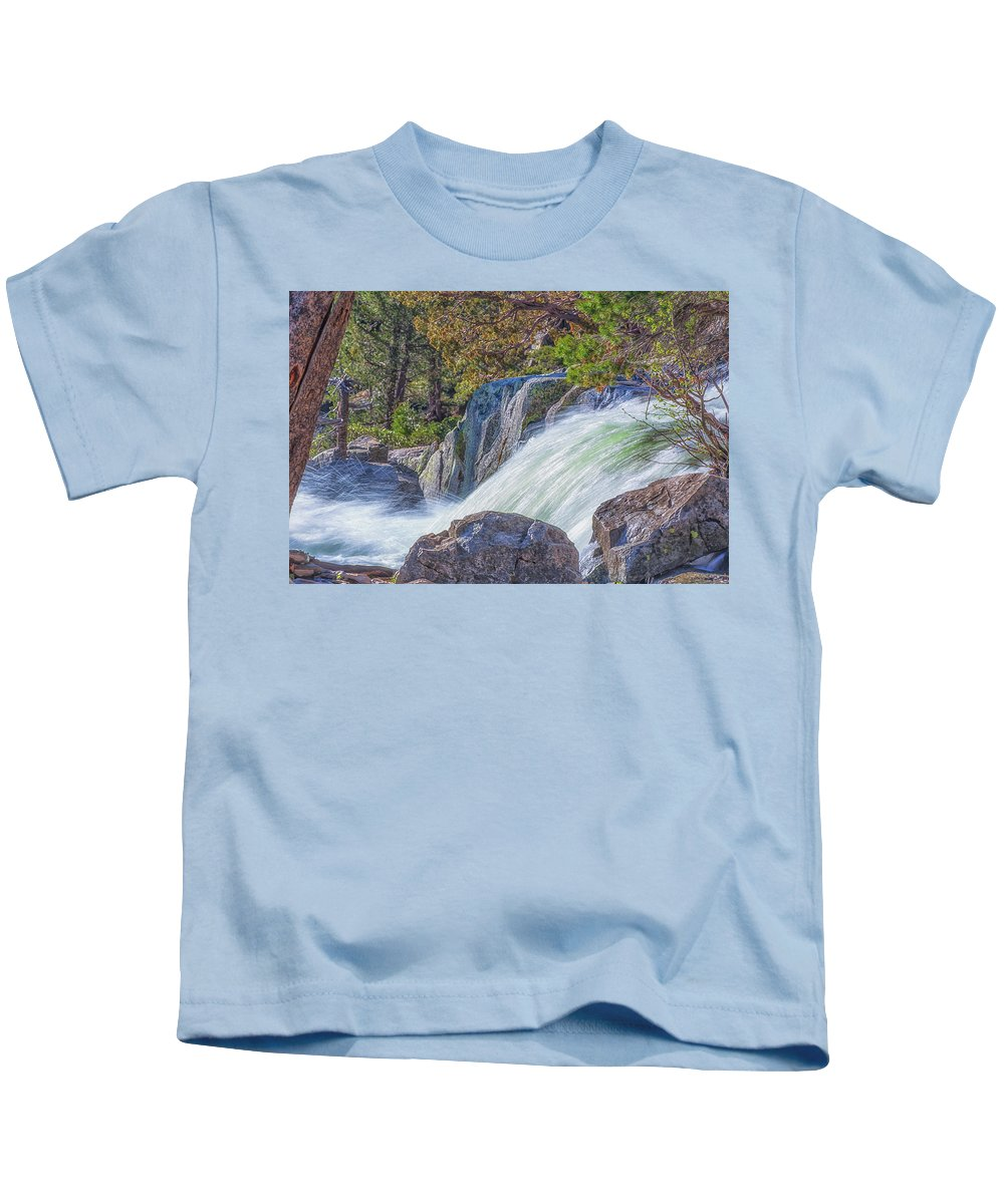 Landscape Kids T-Shirt featuring the photograph Spring Runoff by Marc Crumpler
