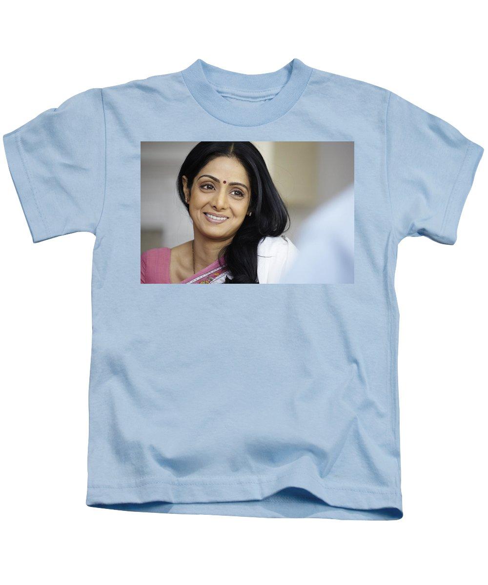 Sridevi Kids T-Shirt featuring the digital art Sridevi by Dorothy Binder
