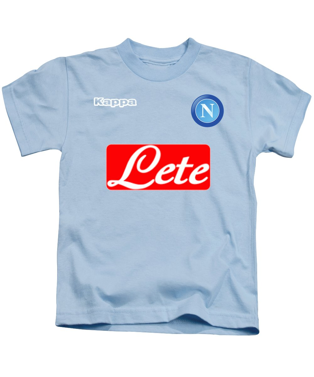 S.s.c Napoli Kids T-Shirt featuring the photograph S.s.c Napoli by Pendi Kere