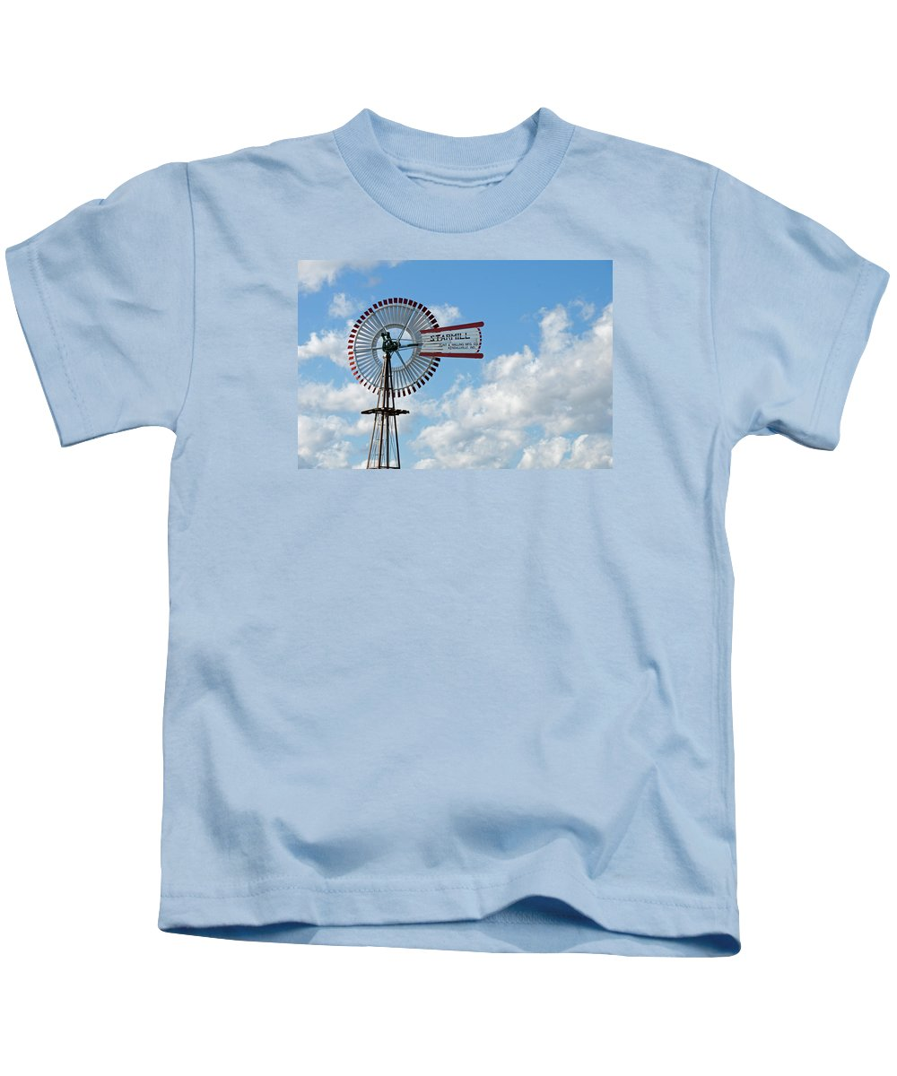 Windmill Kids T-Shirt featuring the photograph Starmill by David Arment
