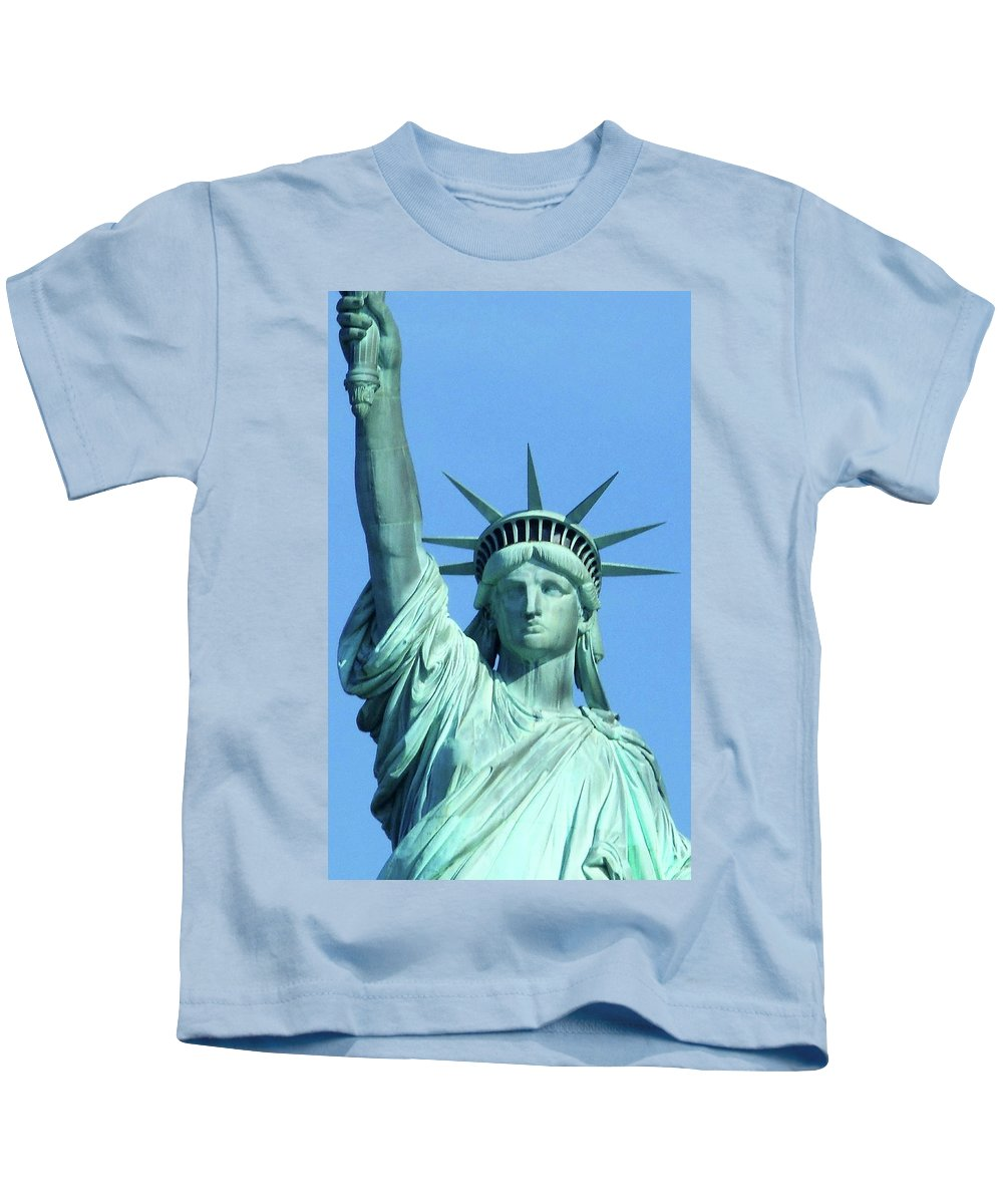 New York City Kids T-Shirt featuring the photograph Statue Of Liberty 5 by Ron Kandt