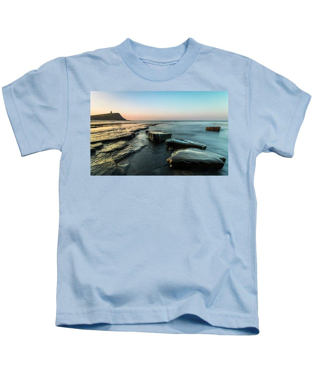 Ocean Kids T-Shirt featuring the photograph Stepping Stones by Simon Garratt