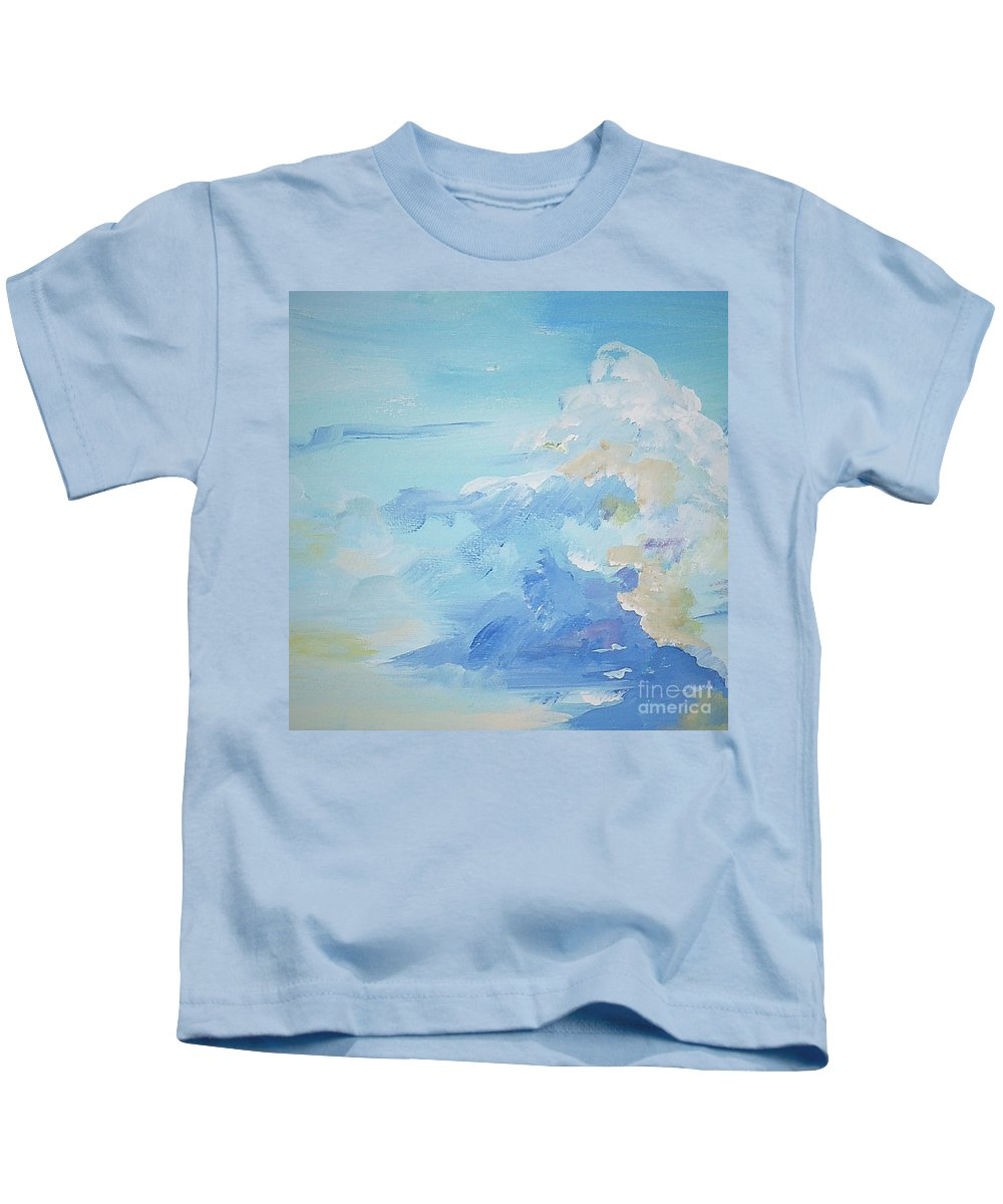 Johnnie Stanfield Kids T-Shirt featuring the painting Storm Warning by Johnnie Stanfield