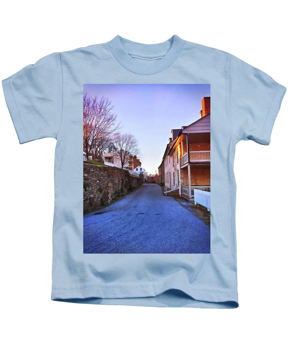 Harpers Ferry Kids T-Shirt featuring the photograph Streets Of Harpers Ferry by Chris Montcalmo