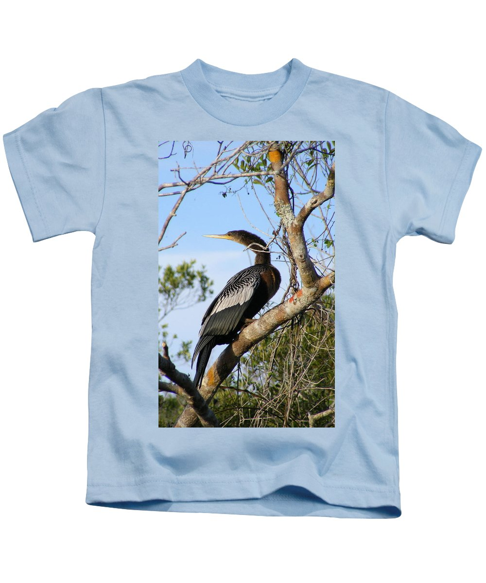 Bird Kids T-Shirt featuring the photograph Strike A Pose by Ed Smith