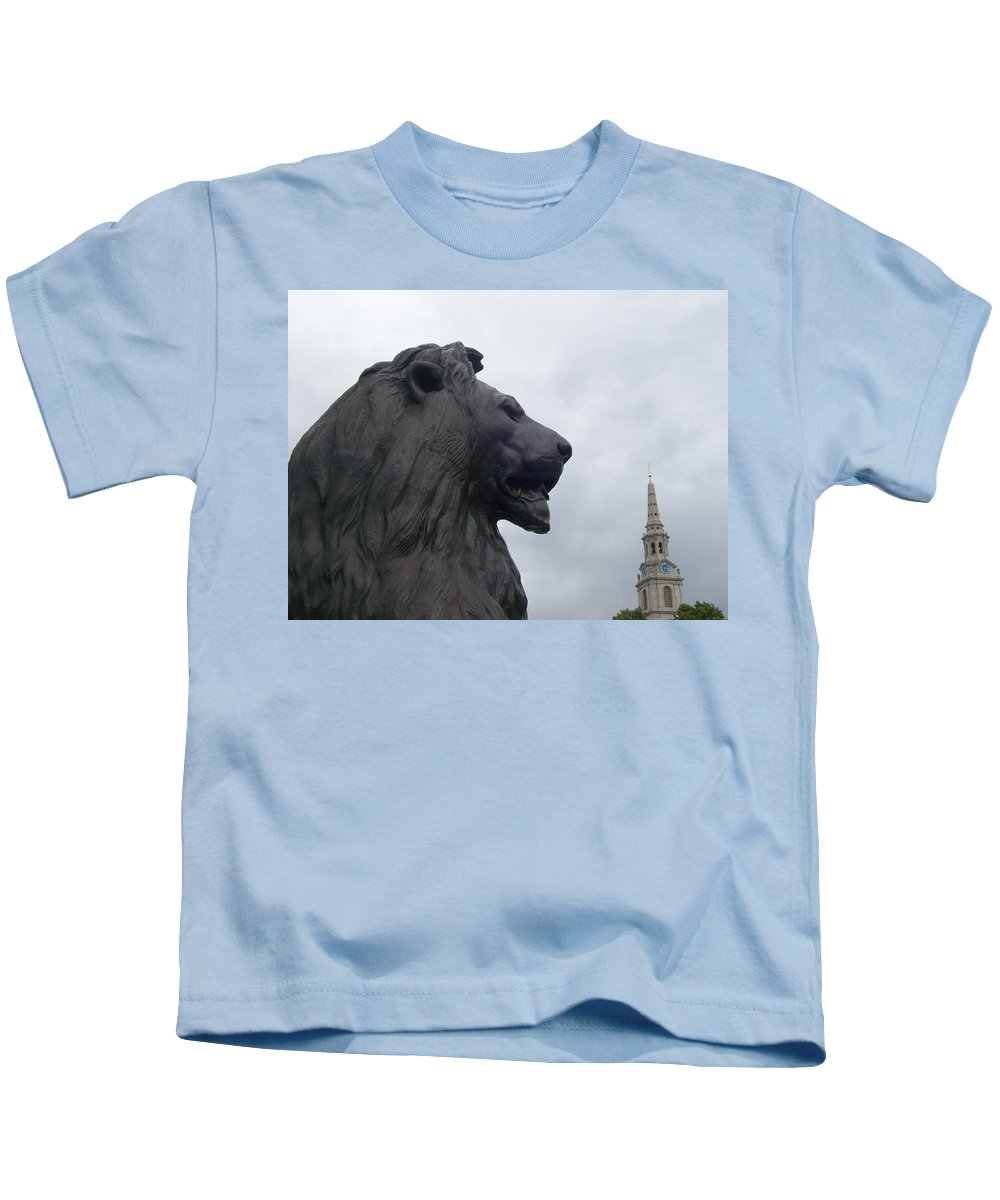 Lion Kids T-Shirt featuring the photograph Strong Lion by Mary Mikawoz