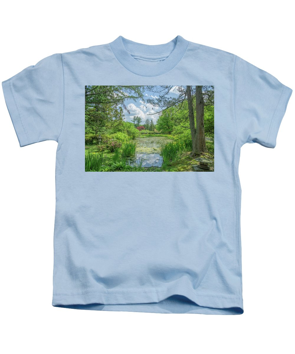 Nature Kids T-Shirt featuring the photograph Summer Garden by June Marie Sobrito
