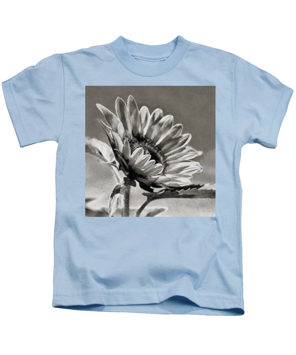 Sky Kids T-Shirt featuring the painting Sun Flower - Id 16235-142753-8673 by S Lurk