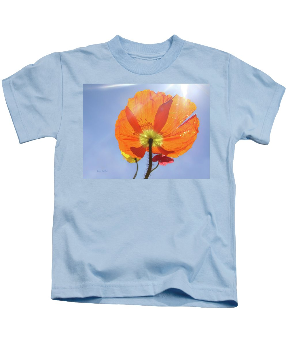 Poppy Kids T-Shirt featuring the photograph Sunburned by Donna Blackhall