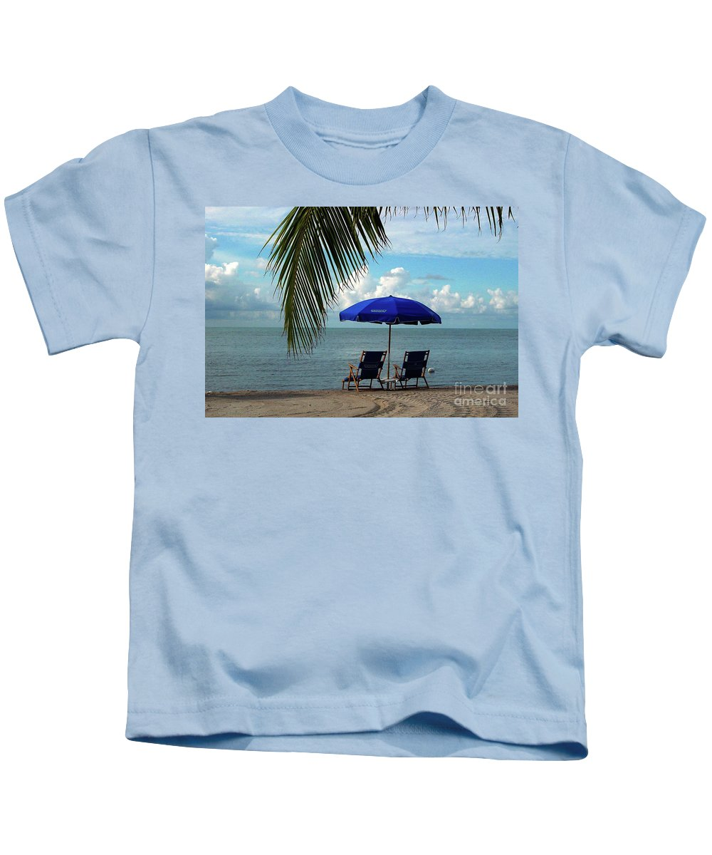 Beach Kids T-Shirt featuring the photograph Sunday Morning At The Beach In Key West by Susanne Van Hulst