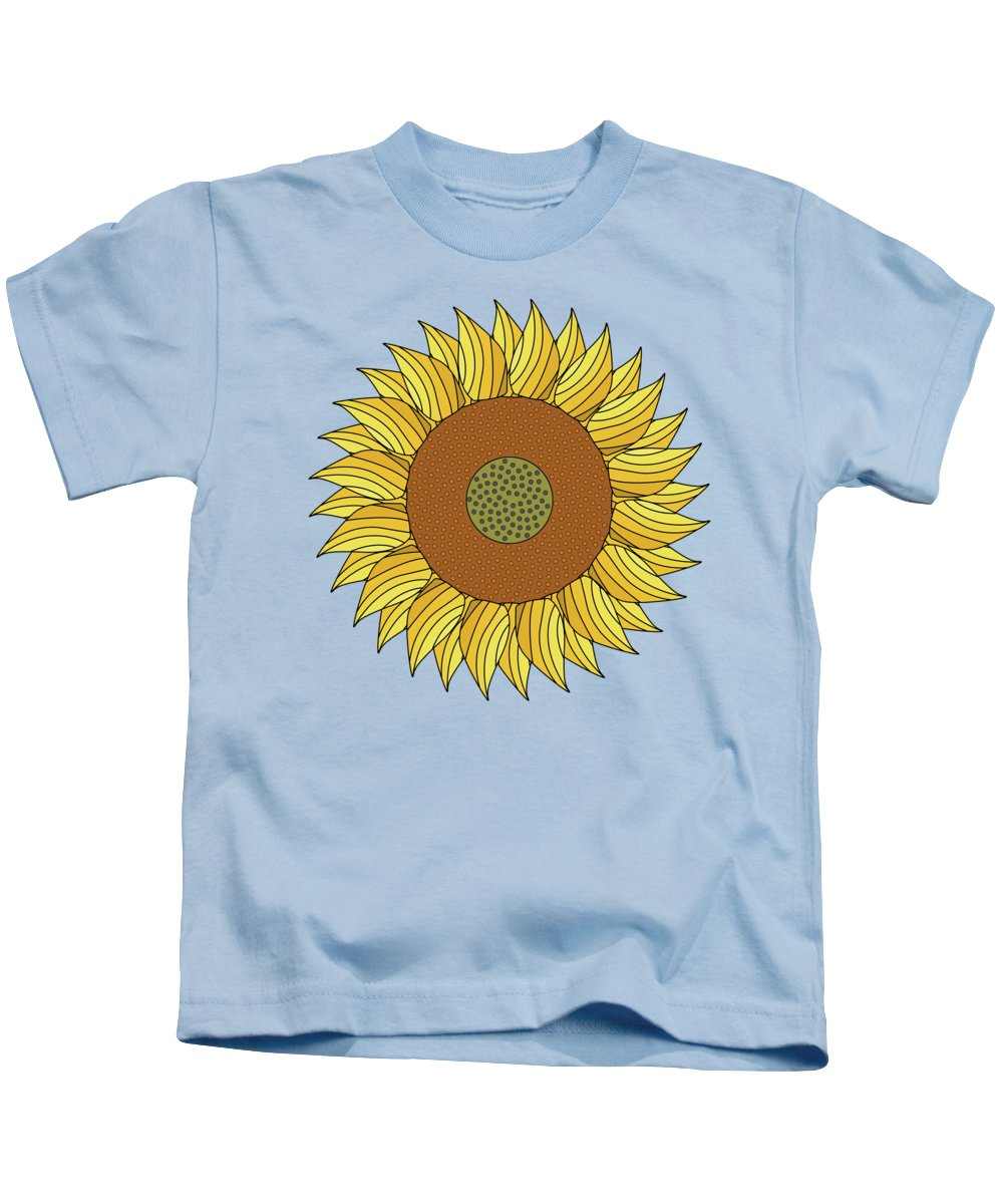 Abstract Kids T-Shirt featuring the digital art Sunny Day by Absentis Designs