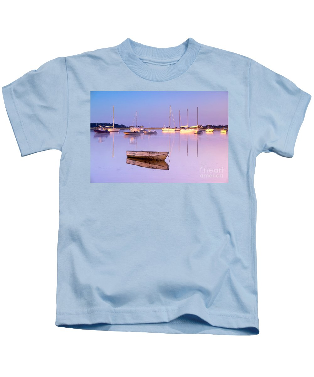 Sunrise Kids T-Shirt featuring the photograph Sunrise At West Bay Osterville Cape Cod by Matt Suess