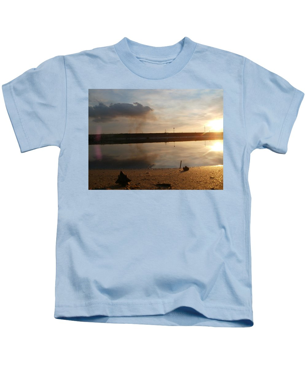Lanscape Kids T-Shirt featuring the photograph Sunset In Delta by Constantin Musat