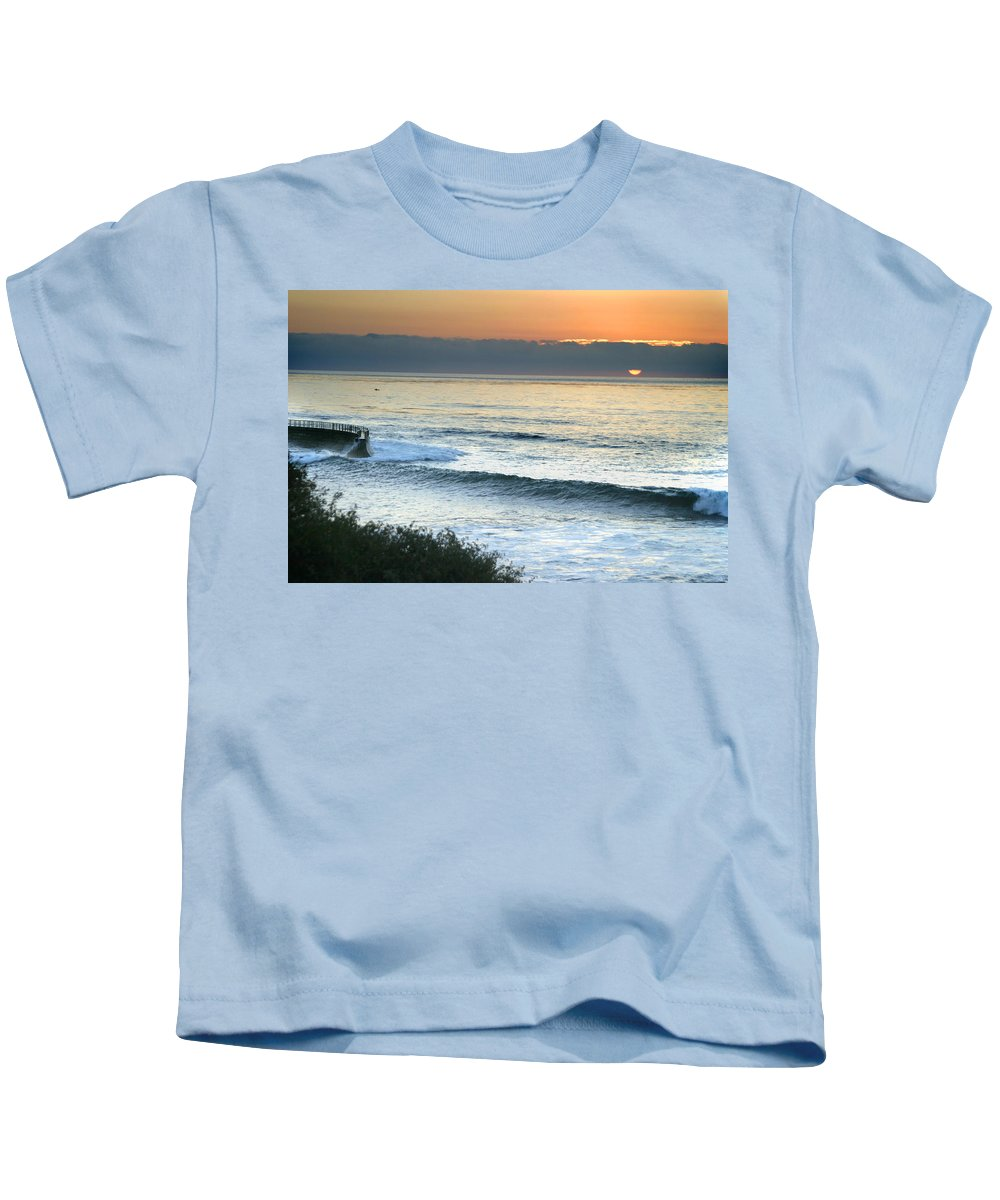 Sunset Kids T-Shirt featuring the photograph Sunset In La Jolla by Anthony Jones