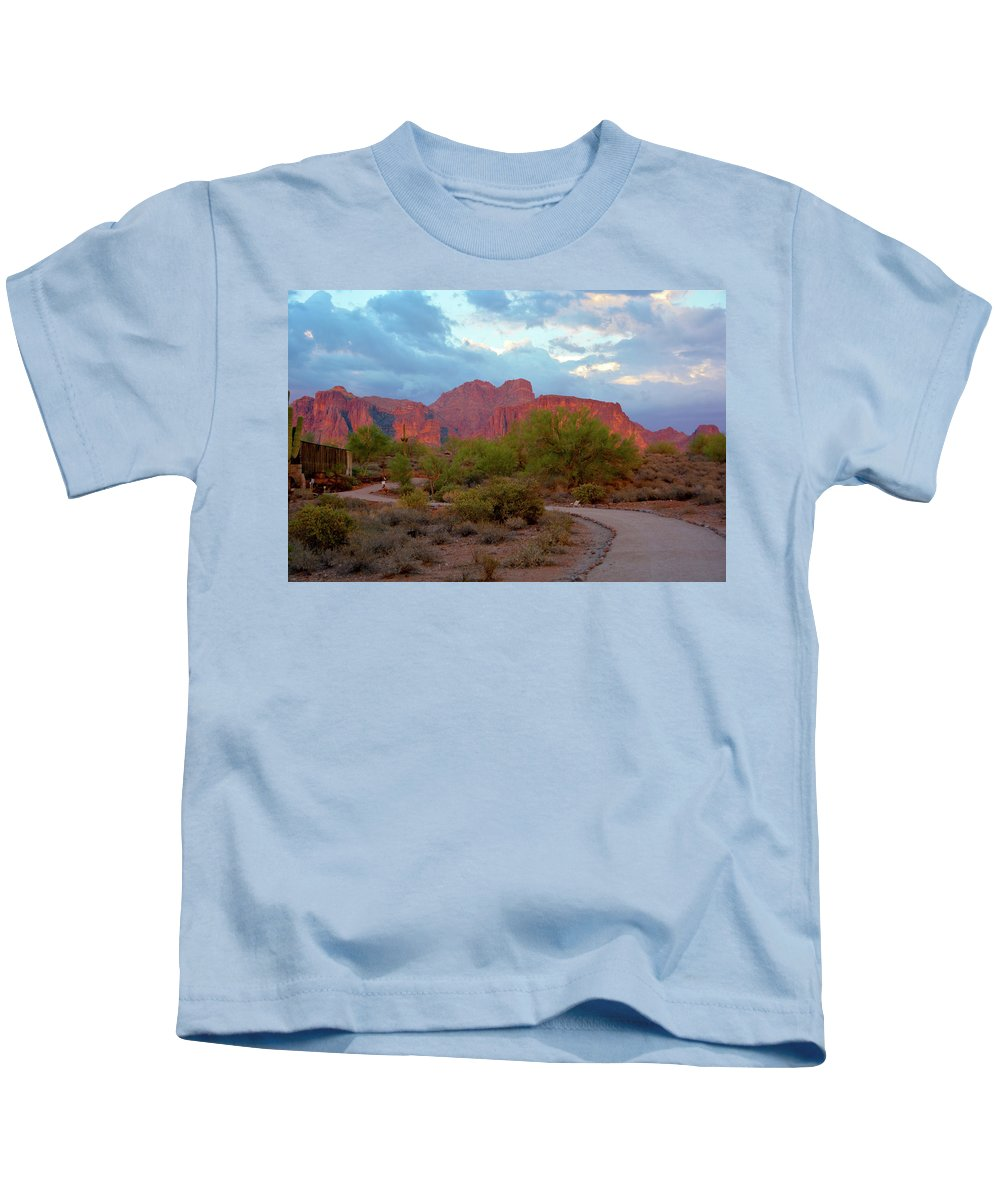 Scenic Kids T-Shirt featuring the photograph Superstition Mountains Arizona by Richard Jenkins