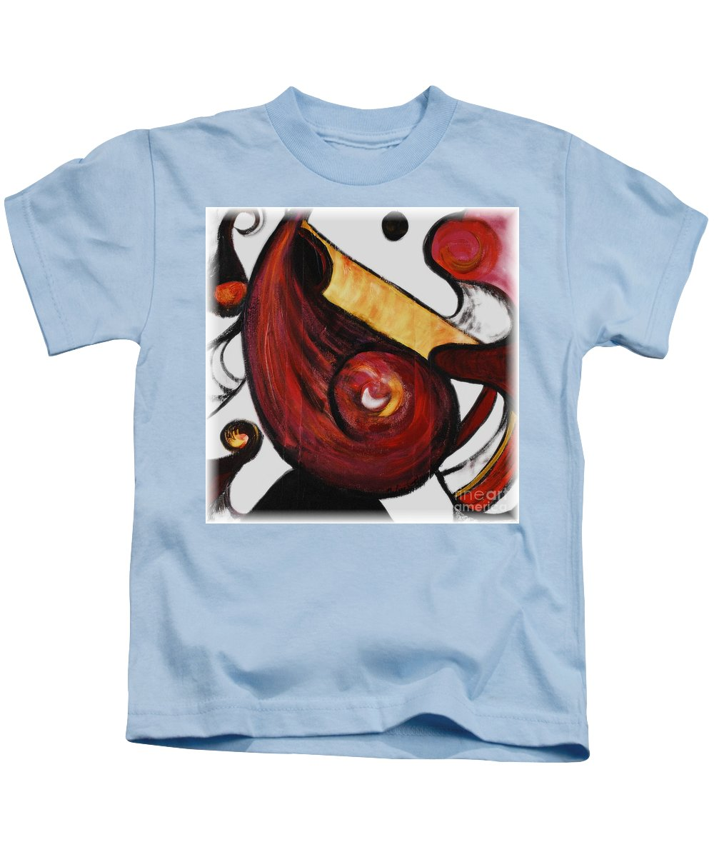 Survivor Kids T-Shirt featuring the painting Survivor by Nadine Rippelmeyer