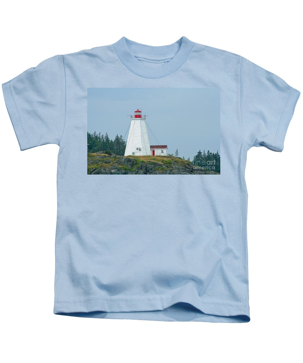 Lighthouse Kids T-Shirt featuring the photograph Swallowtail Lighthouse by Thomas Marchessault