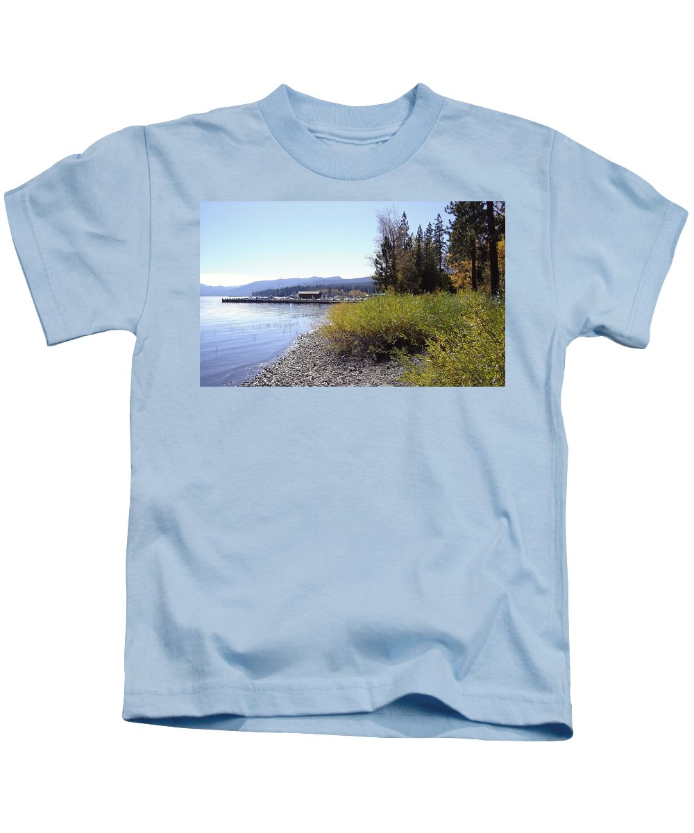 Lake Kids T-Shirt featuring the photograph Tahoe by Mary Rogers