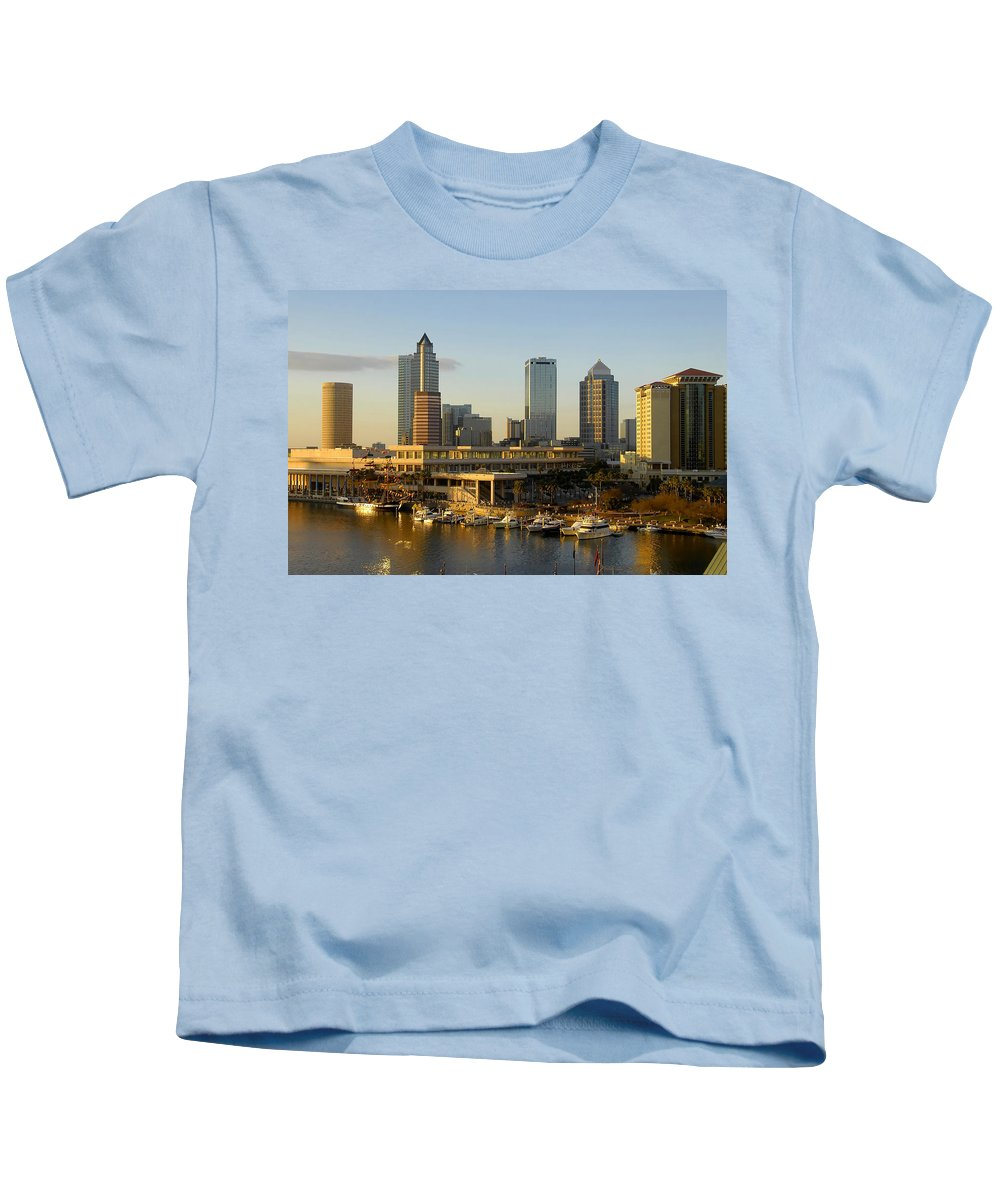 Tampa Bay Florida Kids T-Shirt featuring the photograph Tampa Bay And Gasparilla by David Lee Thompson