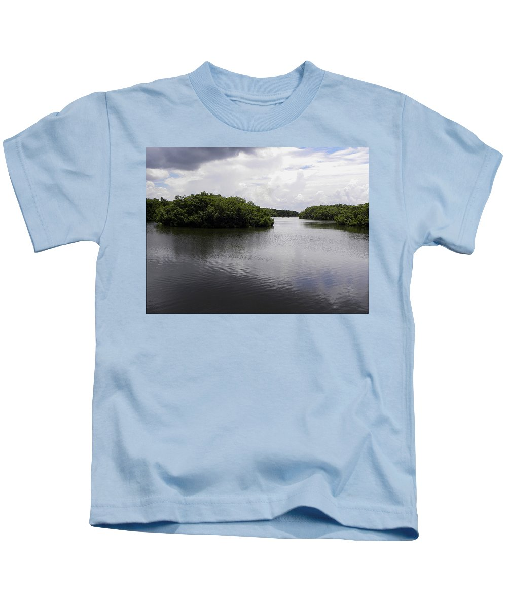 Weedon Island Kids T-Shirt featuring the photograph Tampa Bay Inlet by Chris Mercer