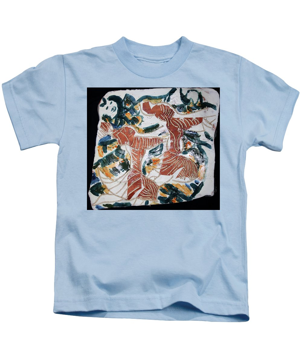 Mama Africa Twojesus Kids T-Shirt featuring the ceramic art Tandem Dance 1 by Gloria Ssali