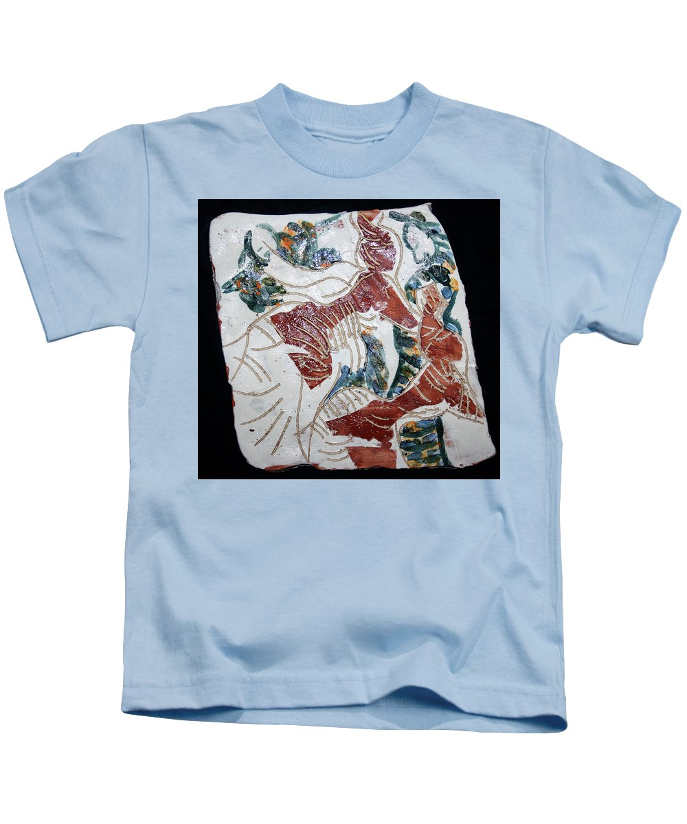 Mama Africa Twojesus Kids T-Shirt featuring the ceramic art Tandem Dance 8 by Gloria Ssali