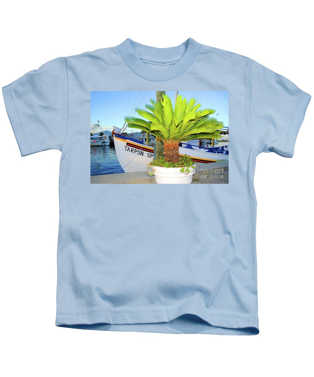 Tarpon Springs Kids T-Shirt featuring the photograph Tarpon         Tarpon Palm                   by Jost Houk