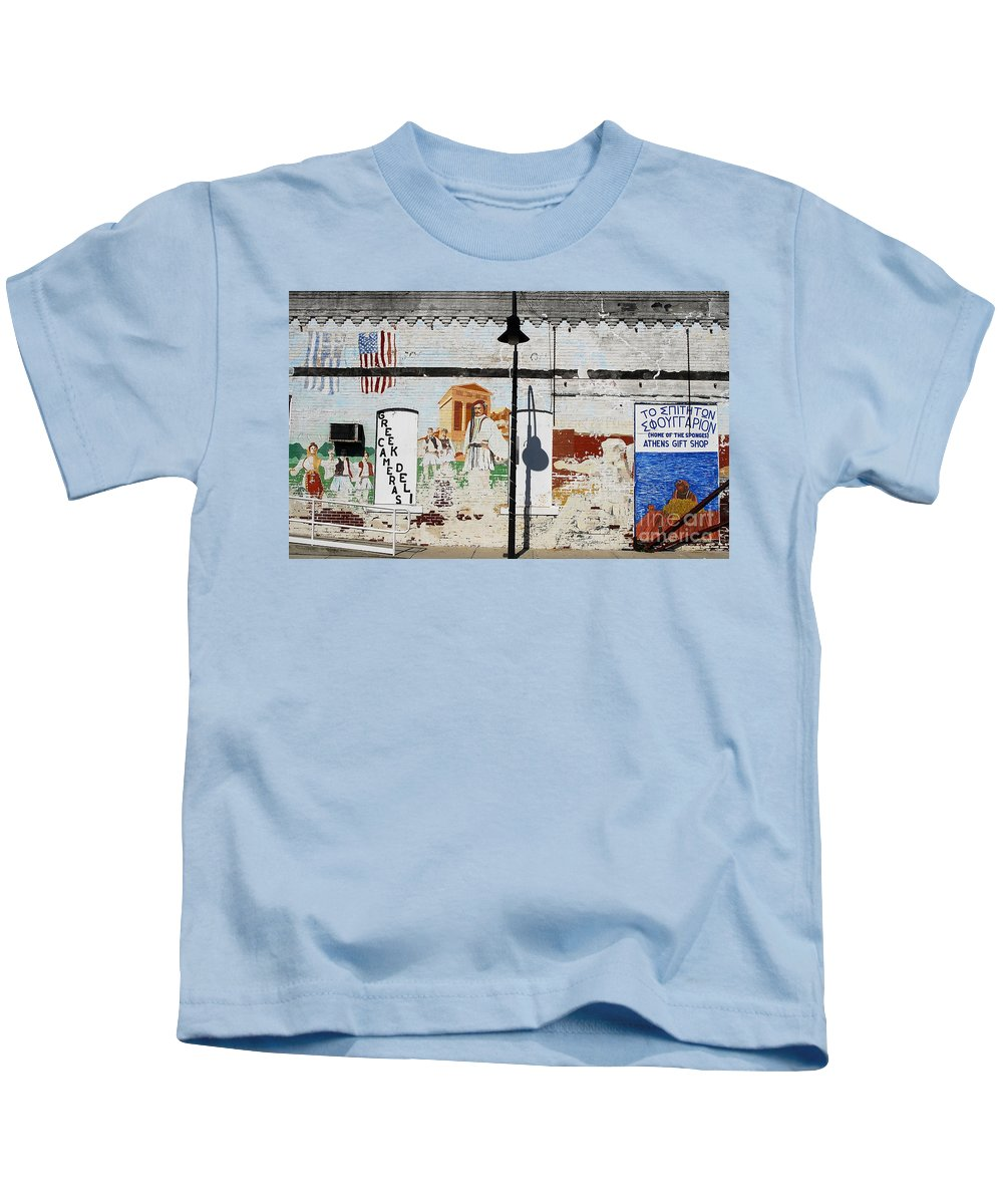Greek Kids T-Shirt featuring the photograph Tarpon Springs by David Lee Thompson