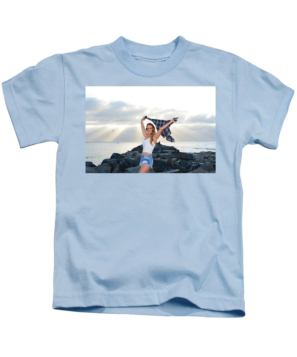 Fashion Kids T-Shirt featuring the photograph Taylor 022 by Remegio Dalisay
