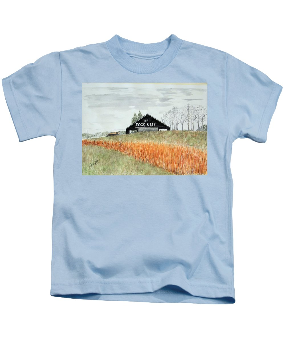 Barns Kids T-Shirt featuring the painting Tennessee Destination by Larry Wright