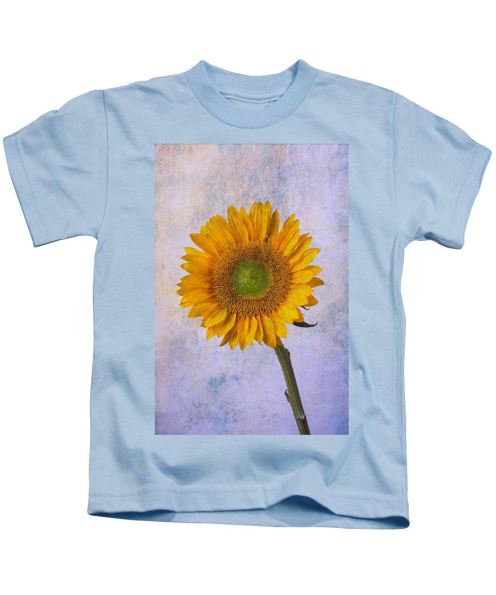 Sunflower Kids T-Shirt featuring the photograph Textured Sunflower by Garry Gay