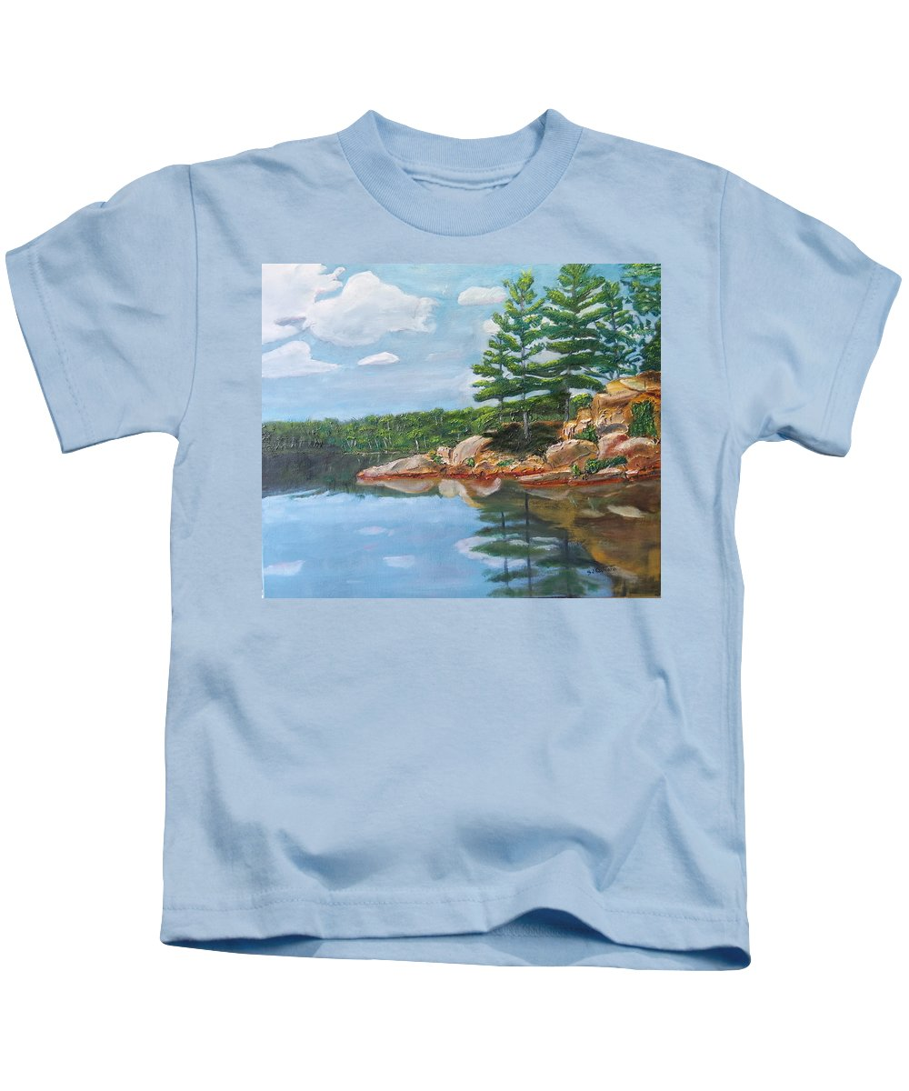Scenery Kids T-Shirt featuring the painting That's The Point by Sal Cutrara