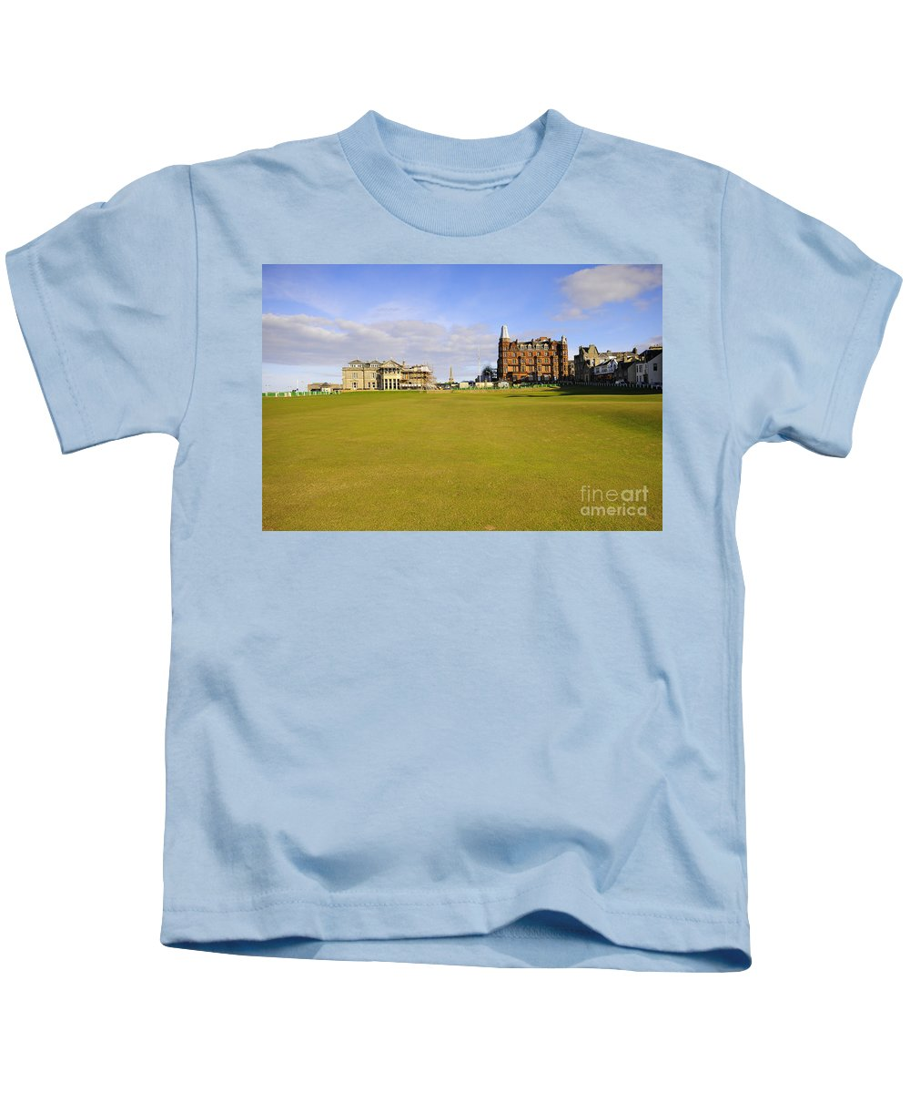 St Andrews Kids T-Shirt featuring the photograph The 18th by Smart Aviation