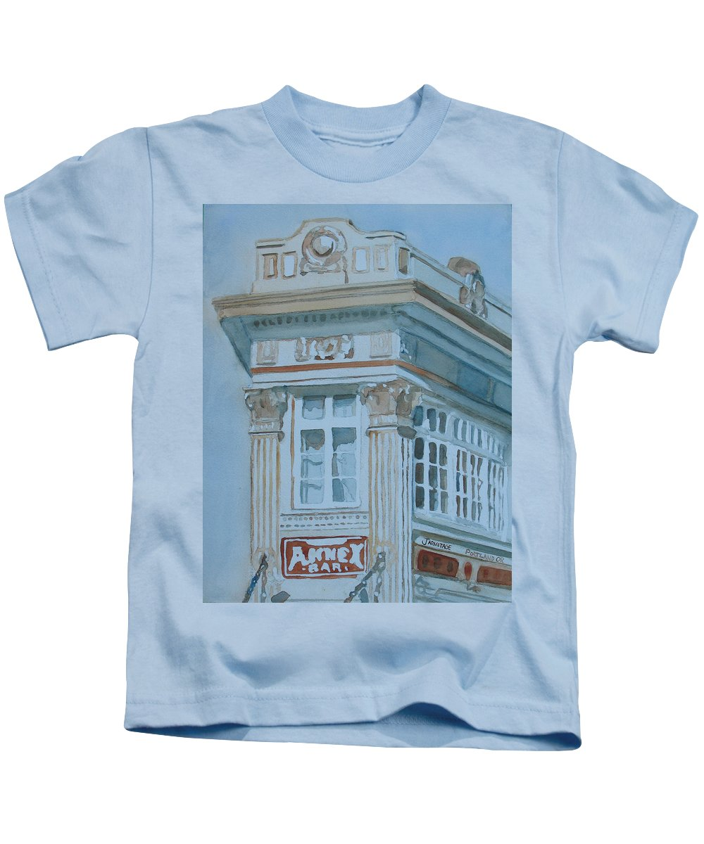 Bar Kids T-Shirt featuring the painting The Annex Bar by Jenny Armitage