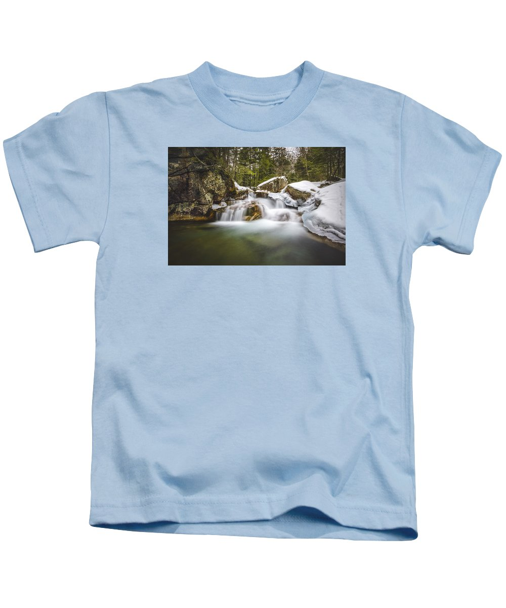 Falls Kids T-Shirt featuring the photograph The Basin Cascades by Robert Clifford
