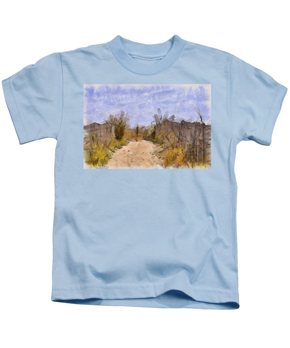 Beach Kids T-Shirt featuring the photograph The Beach Awaits by Trish Tritz