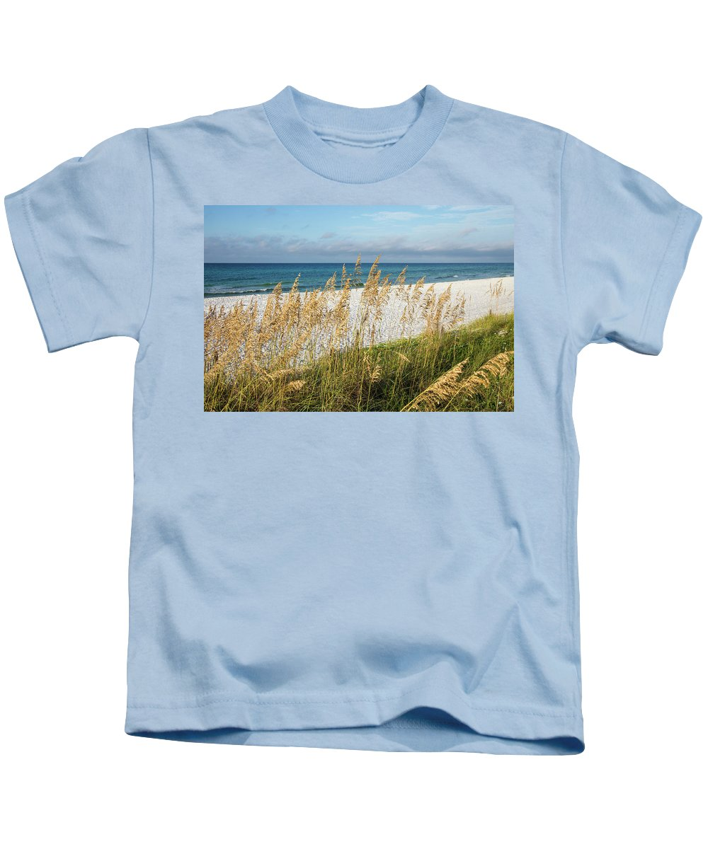 Beach Kids T-Shirt featuring the photograph The Beach by Cliff Middlebrook