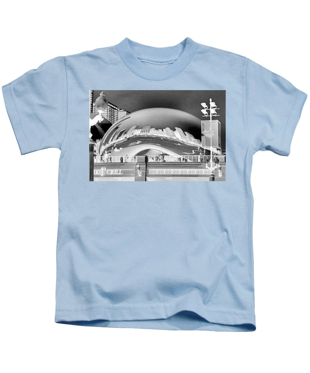 Bean Kids T-Shirt featuring the photograph The Bean - 1 by Ely Arsha