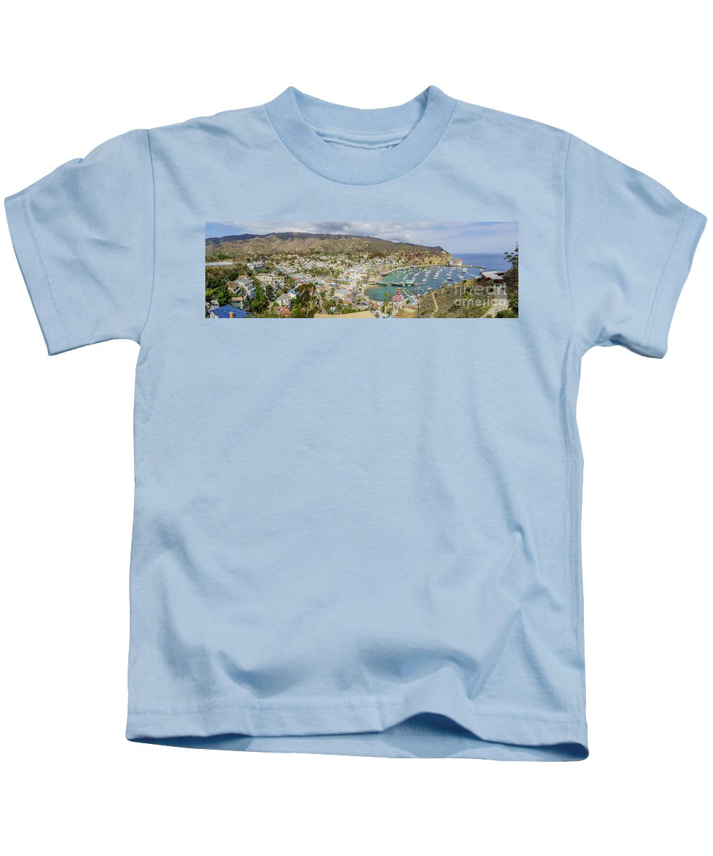 Avalon Kids T-Shirt featuring the photograph The Beautiful Catalina Island by Chon Kit Leong