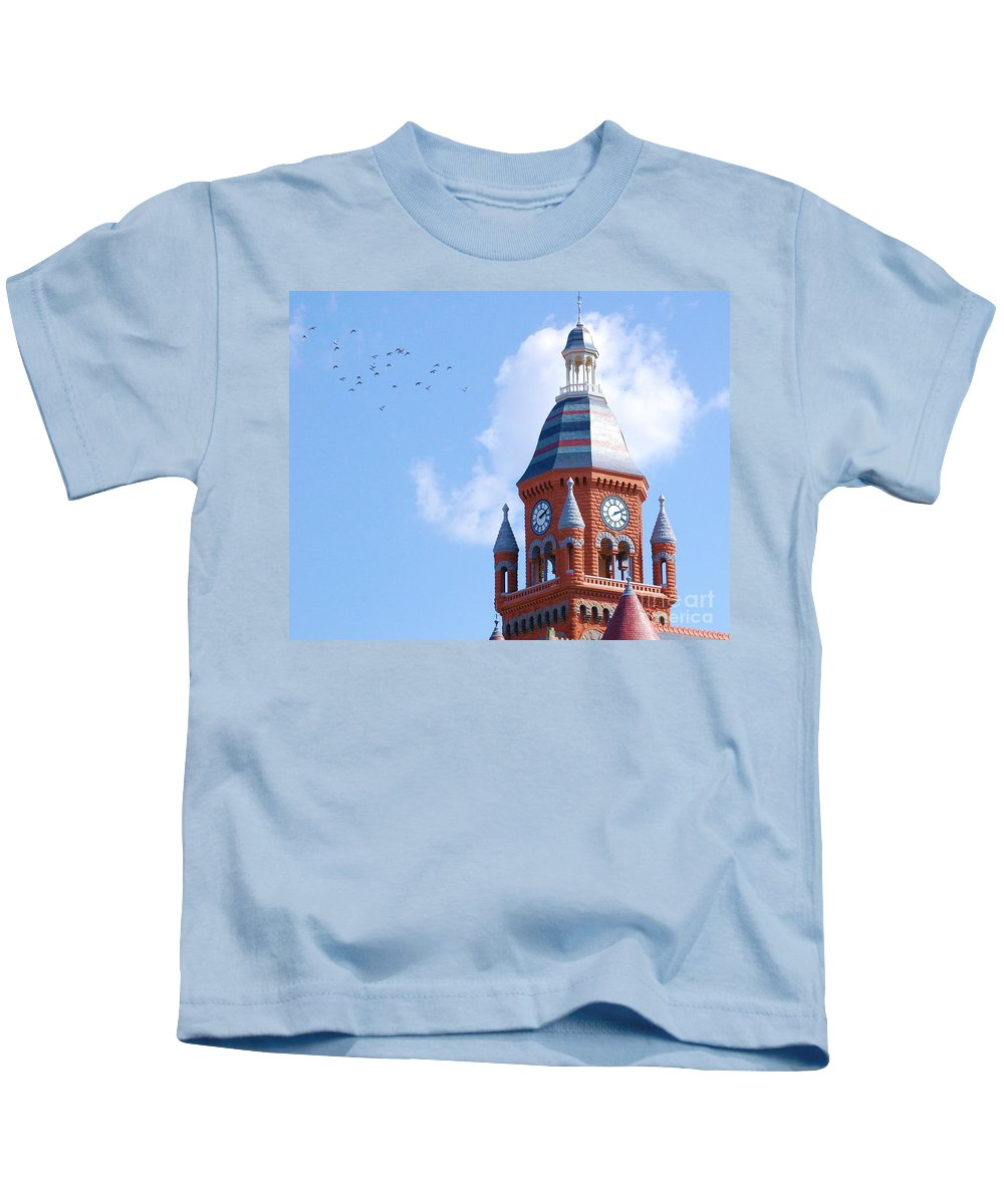 Clock Kids T-Shirt featuring the photograph The Birds by Debbi Granruth
