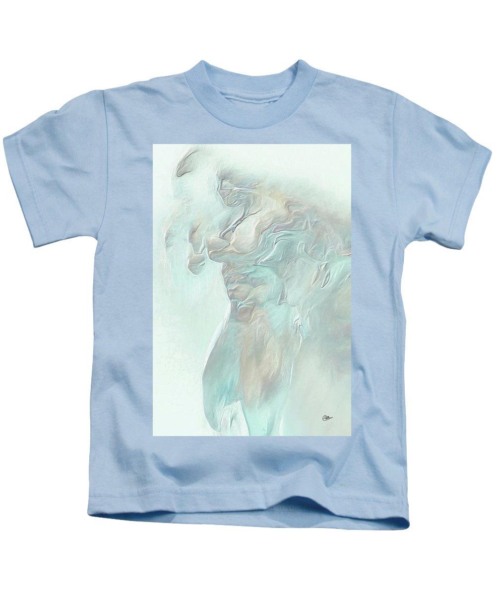 Blue Man Kids T-Shirt featuring the digital art The Blue Man by Joaquin Abella