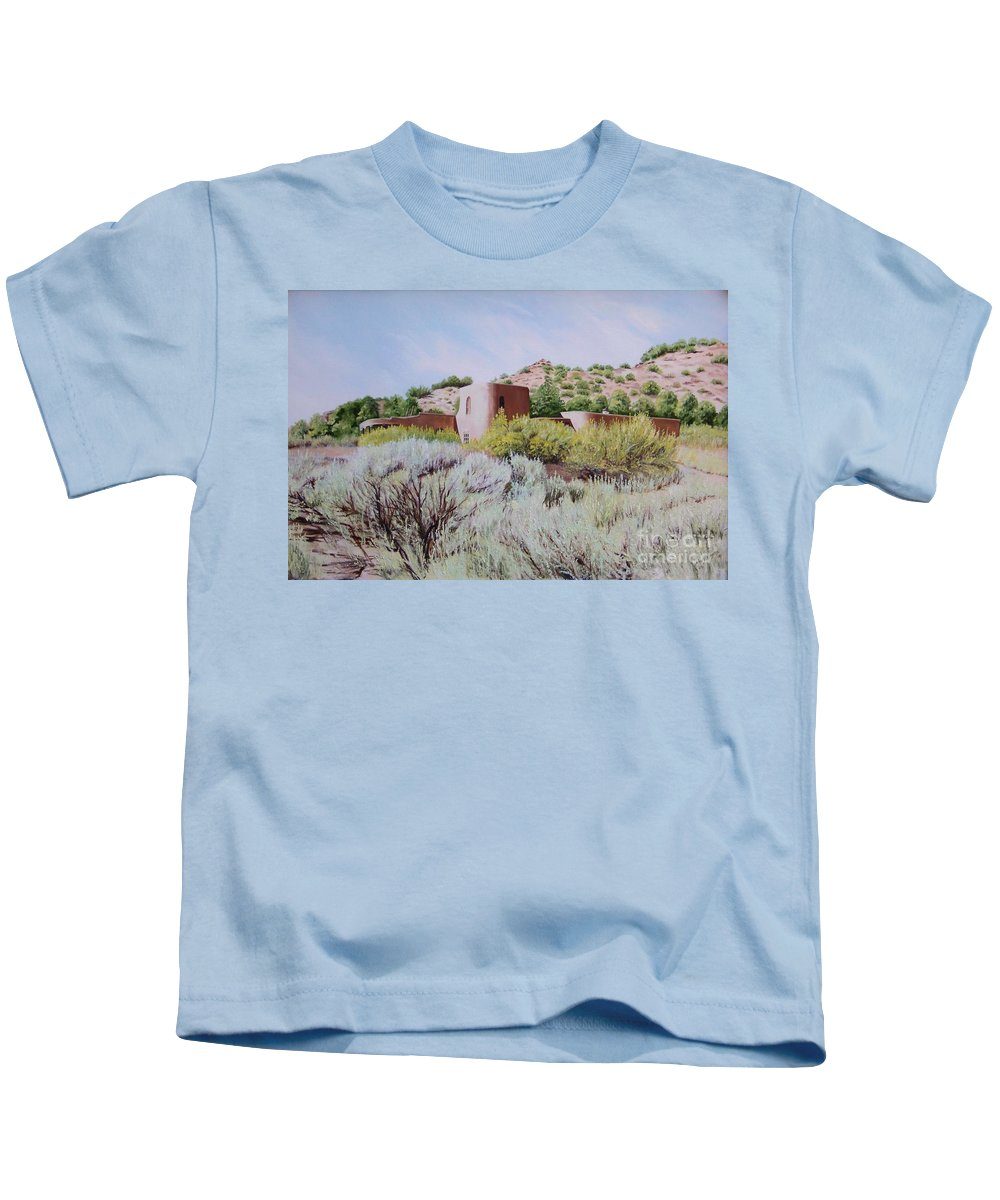Usa Kids T-Shirt featuring the painting The Dixon House by Mary Rogers