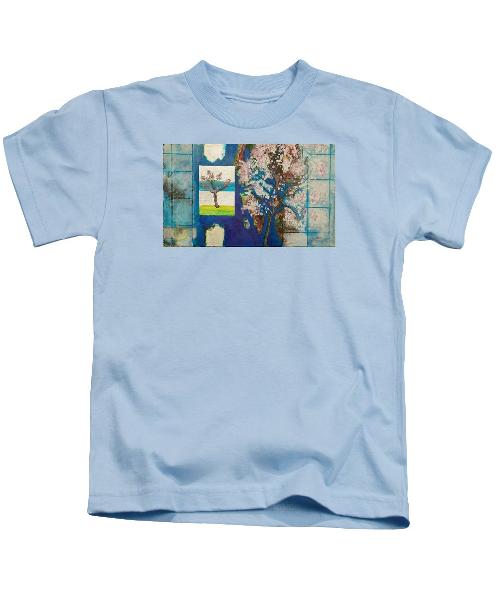 Kids T-Shirt featuring the painting The Dream by Jarle Rosseland